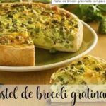 Broccoli Cake au gratin with turkey and thermomix