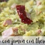 Sautéed cabbage with ham and thermomix