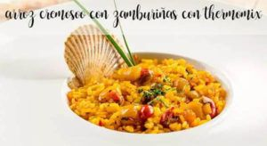 Creamy rice with scallops with thermomix