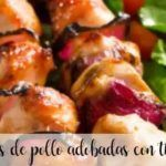 Chicken brochettes marinated in thermomix