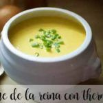 Consommé of the queen with thermomix