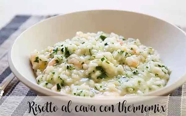 Risotto with cava and thermomix