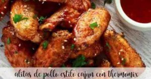 Cajun-style chicken wings with thermomix