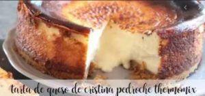 Cristina Pedroche's cheesecake with thermomix