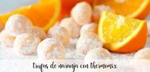 Orange truffles with thermomix