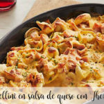 Tortellini in cheese sauce with Thermomix