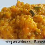 Rice with vegetables with Thermomix