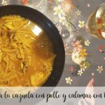 Casserole noodles with chicken and squid with thermomix
