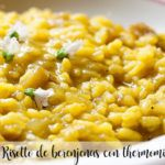 Eggplant risotto with thermomix