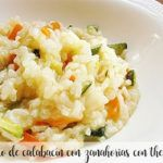 Zucchini risotto with carrots with thermomix