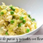 Leek and pea risotto with thermomix