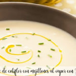 Cauliflower vichyssoise with steamed mussels with Thermomix