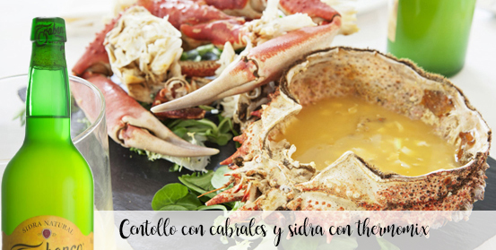 Spider crab with cabrales and cider with thermomix