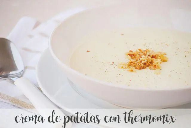 Cream of potato soup with thermomix