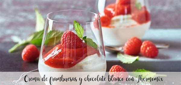 Raspberry and white chocolate cream with Thermomix
