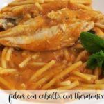 Mackerel noodles with Thermomix