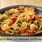 Chinese noodles with shrimp with thermomix