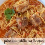 Rib noodles with thermomix