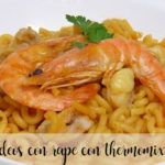Monkfish noodles with Thermomix