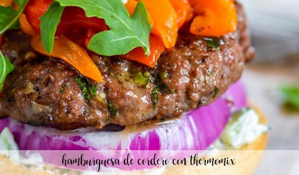 Lamb burger with Thermomix