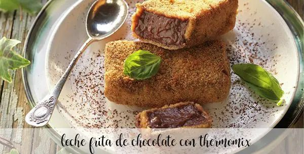 Chocolate fried milk with thermomix