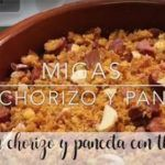Migas with chorizo and bacon with thermomix