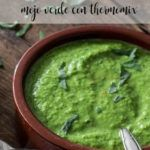 How to prepare mojo verde with the Thermomix