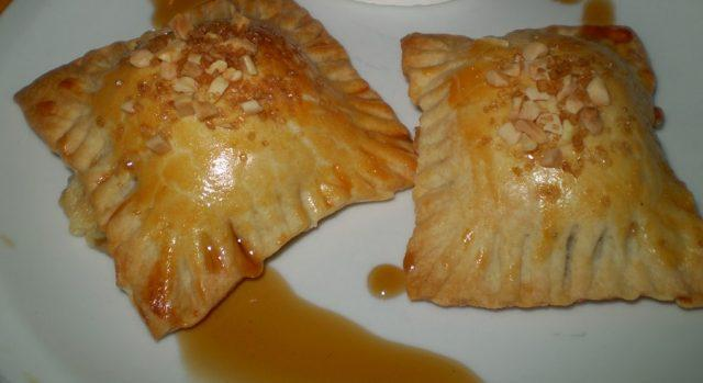 Cheese and onion puff pastry
