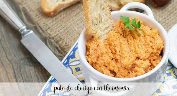 Chorizo pate with Thermomix