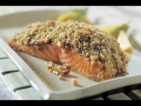 Salmon recipe with crunchy pistachio in the Thermomix