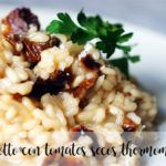 Risotto of dried tomatoes with Parmesan with Thermomix