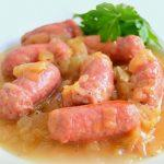 sausages in wine with thermomix