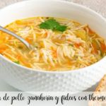 chicken carrot and noodle soup with thermomix