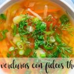 Vegetable soup with noodles with thermomix