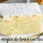 Magical lemon cake with thermomix