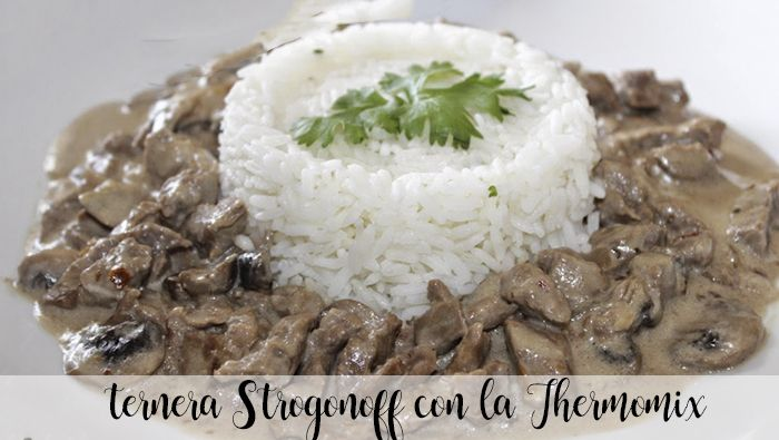 Stroganoff beef recipe with the Thermomix