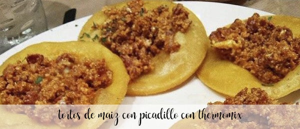 Baked corn cakes with minced meat with Thermomix