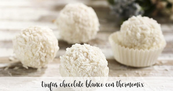 White chocolate truffles with Thermomix