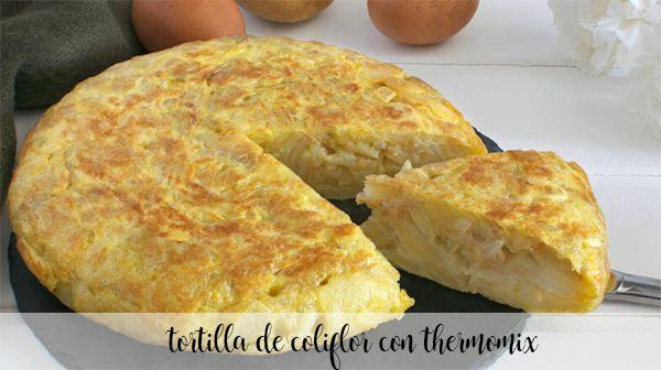 Cauliflower tortillas with thermomix