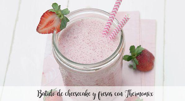 Strawberry cheesecake shake with Thermomix