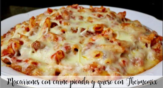 Macaroni with minced meat and cheese with Thermomix