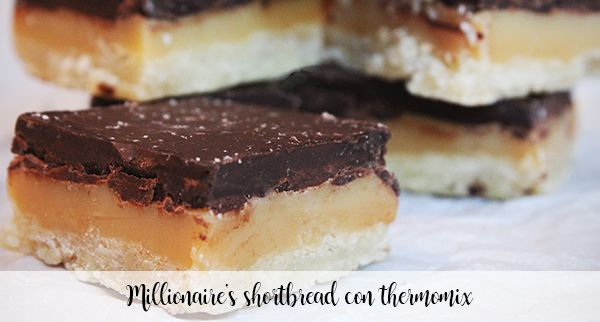 Millionaire's shortbread with thermomix