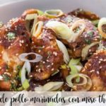 Chicken wings marinated with miso with Thermomix