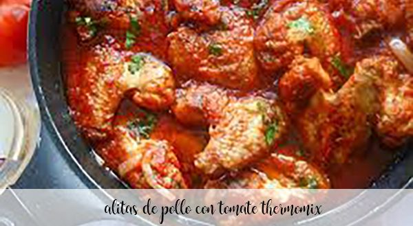 Chicken wings with tomato with Thermomix