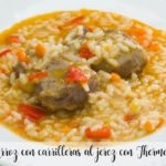 Rice with cheeks with sherry with Thermomix