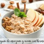 Apple and oatmeal breakfast with Thermomix