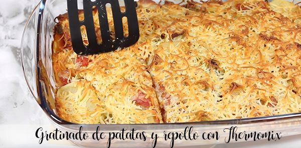 Potato and cabbage gratin with Thermomix