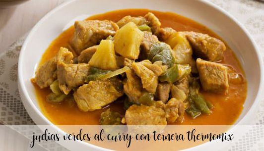 Green beans curry with beef with Thermomix