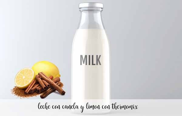 milk with lemon and cinnamon with thermomix