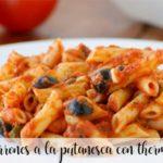 Macaroni a la puttanesca with Thermomix